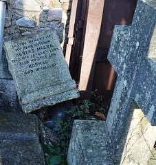 Discarded gravestone at Banchory Ternan kirkyard