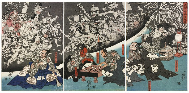 Utagawa Kuniyoshi - The Earth Spider Generates Monsters at the Mansion of Lord Minamoto Yorimitsu