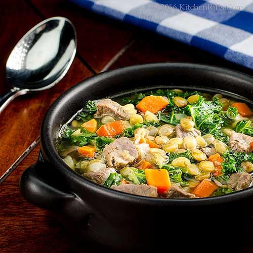 Duck, Lentil, and Kale Soup