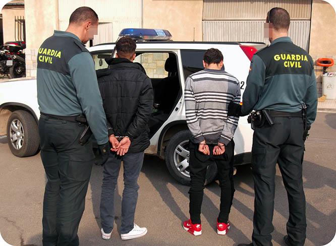 Detienen a tres delincuentes en relación con los robos cometidos en La Aljorra y Pozo Estrecho