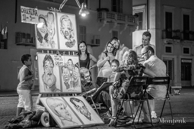 Caricatures in Piazza Navona I, Rome, Italy (2014)