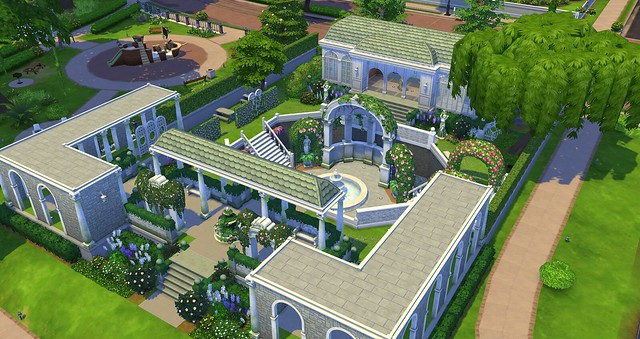 sims 4 romantic garden public lot