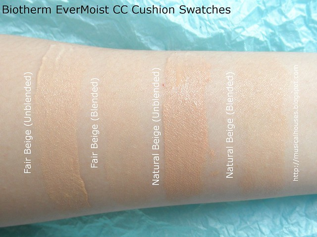 Biotherm Evermoist CC Cushion Swatches