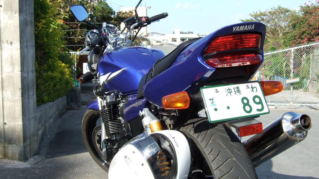 わナンバーのバイク