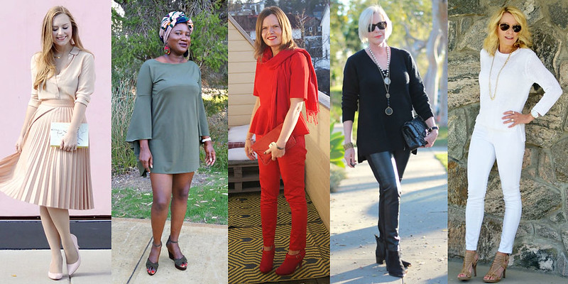 Fashion bloggers in monochromatic looks #iwillwearwhatilike