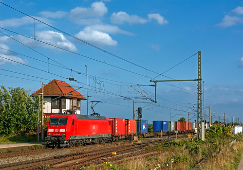 railroad germany railway trains cargo fret bahn mau germania bombardier freighttrain ferrovia traxx treni sachsenanhalt br145 guterzuge nikond7100
