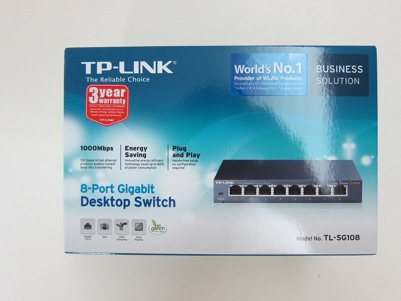 TP-Link 8-Port Gigabit Desktop Switch (TL-SG108) - Box Front