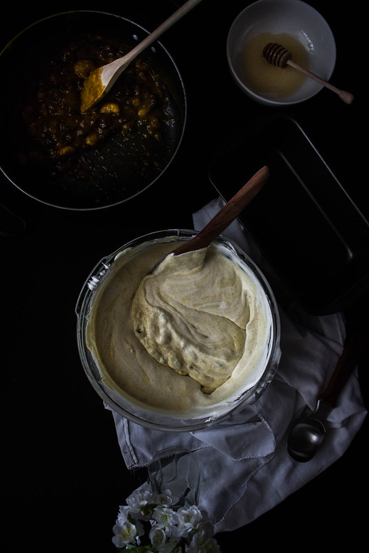 Banana chutney & Toasted Walnut No-Churn Ice Cream