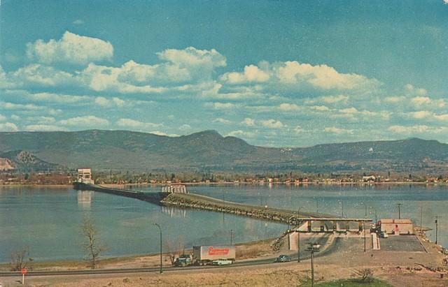 Postcard: Okanagan Lake Bridge, Kelowna, BC, c.1960