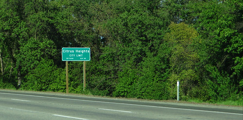 Entering Citrus Heights, California, Interstate 80