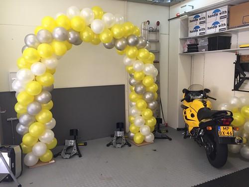 Ballonboog 6m Open Dag Rijschool Yellow Breda