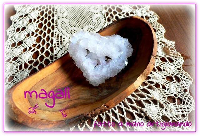 cristalli colorati - cuore bianco