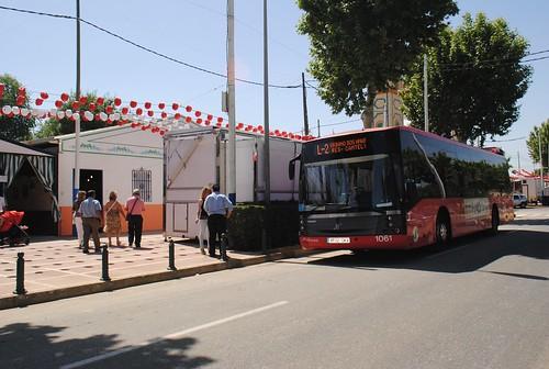 Autobús urbano en la Feria