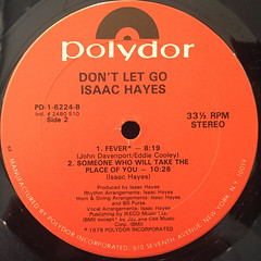 ISAAC HAYES:DON'T LET GO(LABEL SIDE-B)