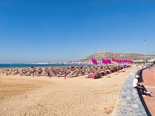 Plage d'Agadir görüntü.