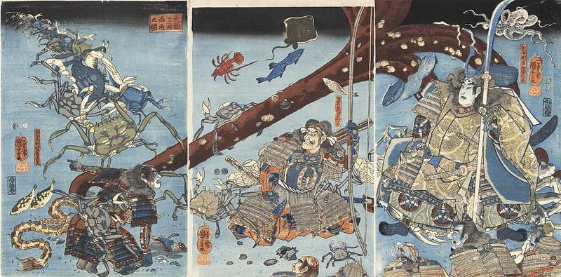 Utagawa Kuniyoshi - Picture of The Sea Bed at Daimotsu Bay, 19th C