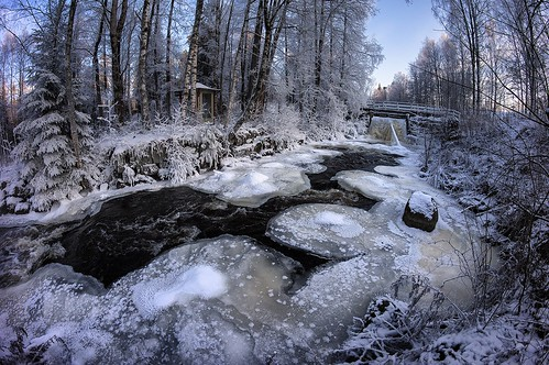 winter cold freezing rive
