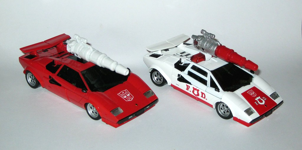 Mp 12 Reissue Lambor Sideswipe With Mp 14 Alert Red Alert Transformers  Masterpiece Takara