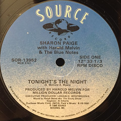 SHARON PAIGE WITH HAROLD MELVIN & THE BLUE NOTES:TONIGHT'S THE NIGHT(LABEL SIDE-A)