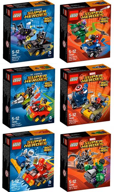 超級英雄碰碰車!LEGO Mighty Micros 迷你車系列登場~