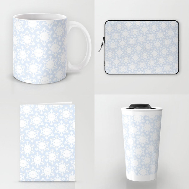 Winter Snowflakes pattern at Society6