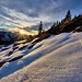 Alpine Winter Sunset