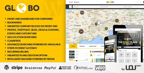 Themeforest Globo v1.1.0 - Directory Listings WordPress Theme