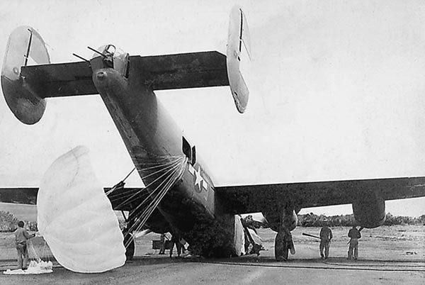 B-24 MISSLEADING after landing at Laoag
