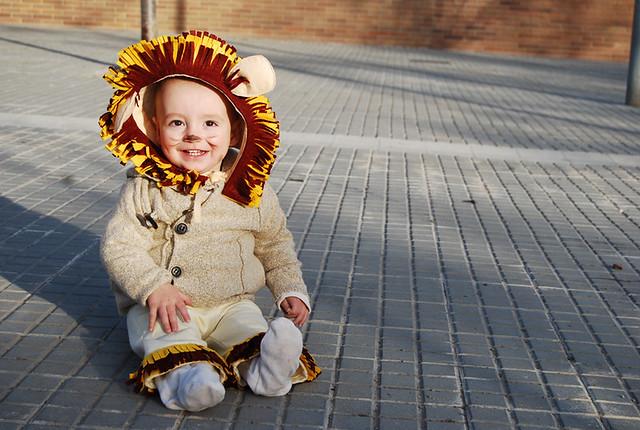disfraz león circo bebé fieltro