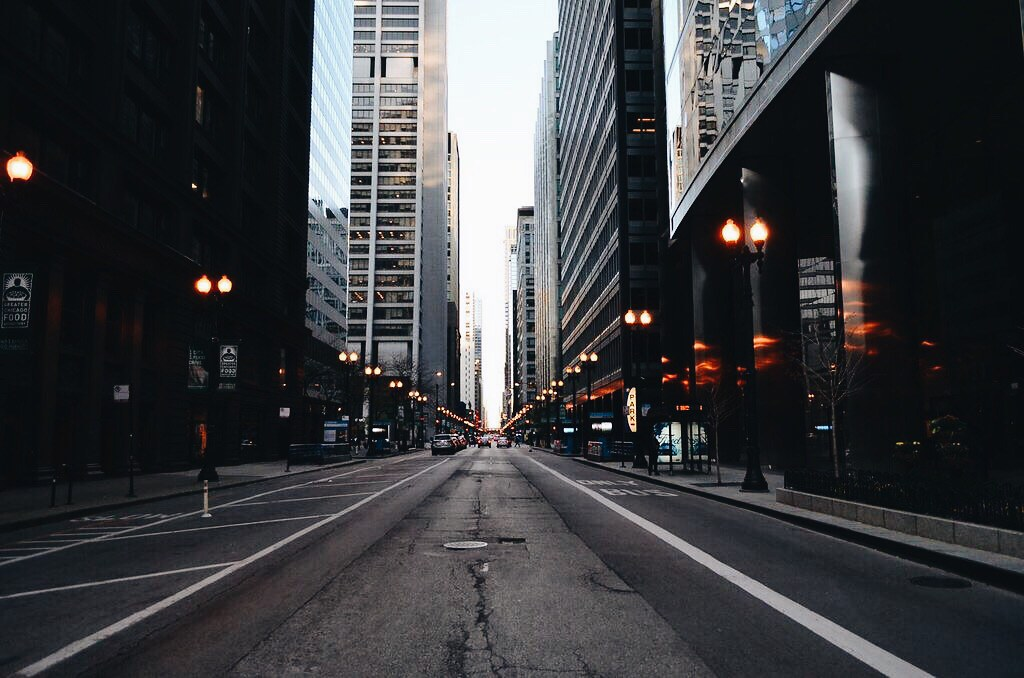 Straße in Chicago