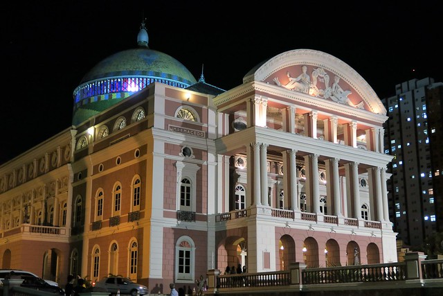 amazonas theater manaus at night