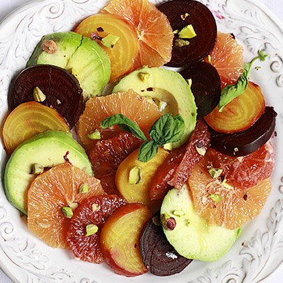 Rosted Beet, Citrus, and Avocado Salad