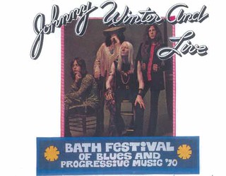 Johnny WInter at Bath Festival Progressive Music 1970