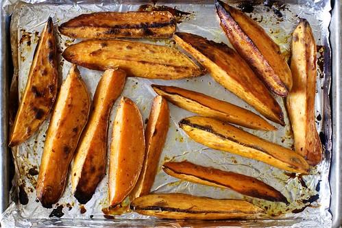 roasted yam wedges
