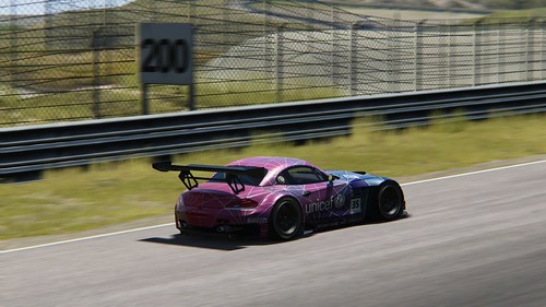 BMW Z4 GT3 - fantasy skin - Unicef - Andy Gilmore - Assetto Corsa (3)