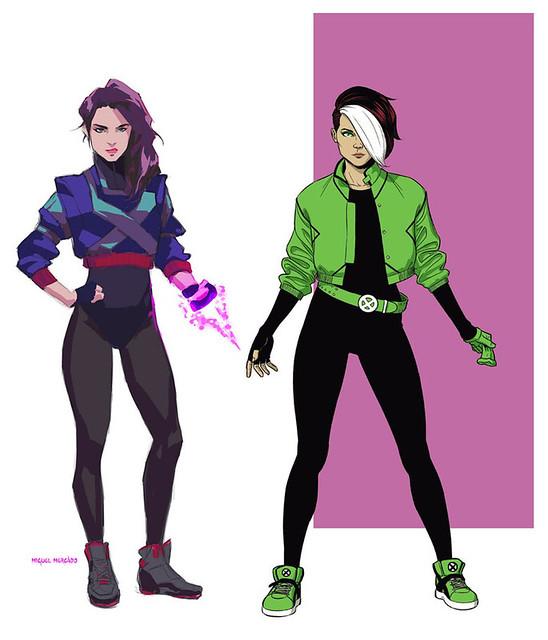 80sXmen-Psylocke-Rogue
