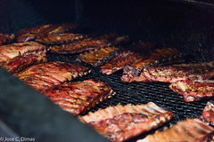 Close up of the ribs