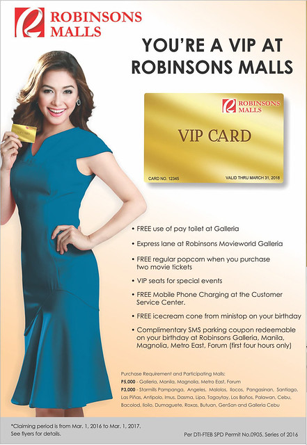 robinsons malls vip card