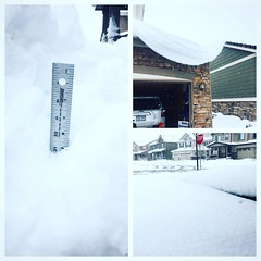 Obligatory snow update.  Need a longer yard stick - 31 inch drifts and still snowing.  #Colorado
