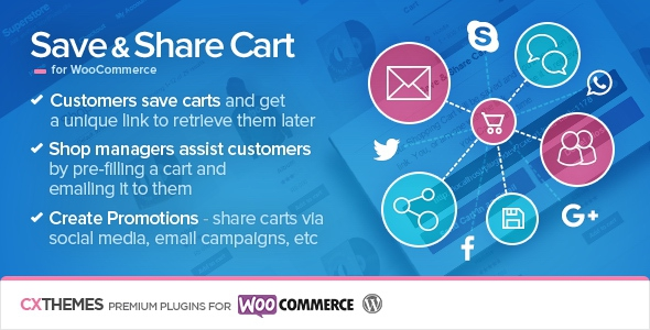 Save & Share Cart for WooCommerce v2.05