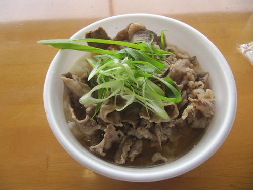 阪神競馬場のホルモン人の肉吸いご飯