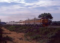 1980 07-12 7:49AM DRGW F9A-5771 W/B RGZ, Denver, CO.