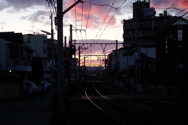 2015/12 叡山電車元田中駅近く #01