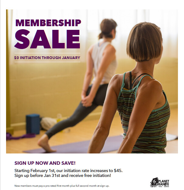 Membership Sale - January