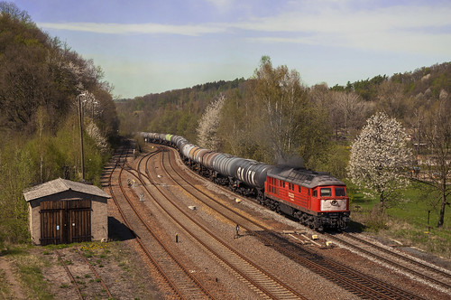 train germany diesel dr db bahn germania ludmilla treni nossen sassonia saxen br232