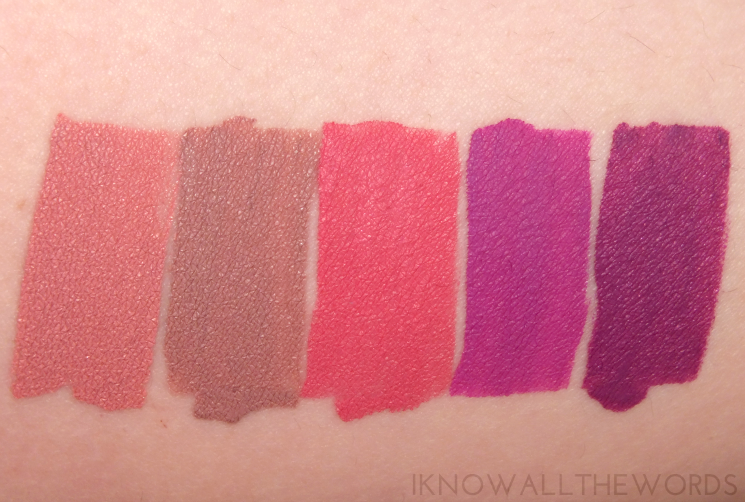 LA Splash Liquid Lipsticks Athena, Charmed, Hermione, Bewitched, and Alice (1)