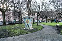 Mosaic Tree Surrounds [Public Park Mountjoy Square]-111201