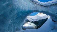 Przejście pod lodowcem Gurgler Ferner