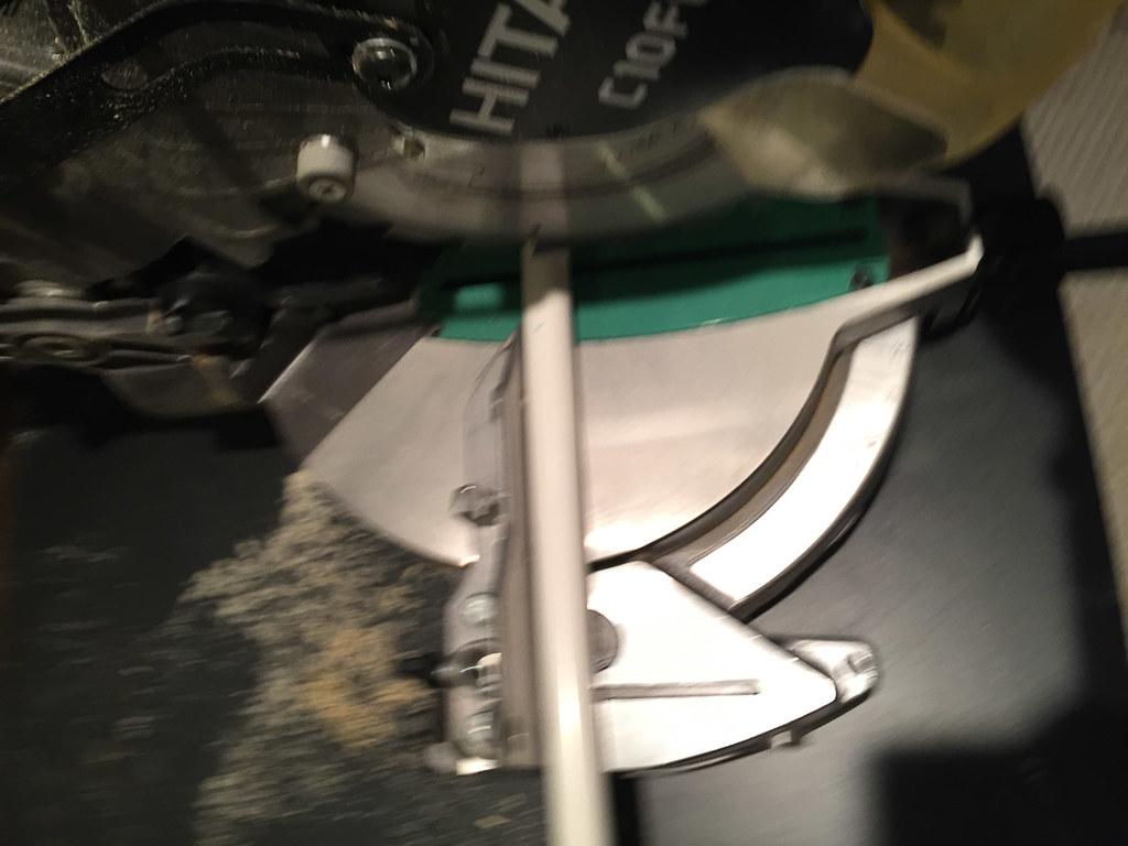 Cutting PVC using miter saw