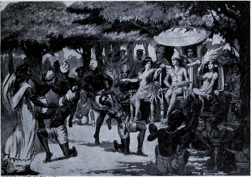 Chandragupta Maurya, the founder of the Maurya Empire, entertains his bride from Babylon
